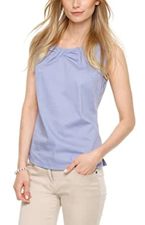 SIR Oliver Damen Regular Fit Bluse 11.404.13.7117, Gr. 44, Blau (azurblue)