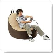 Hazelnut,Sage Comfort Magic Large Memory Foam Video Game Chair