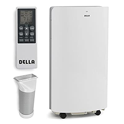 DELLA 048-GM-48265 14,000 BTU Evaporative Portable Air Conditioner/Heater/Dehumidifier/Cooling Function LED Panel Control, White