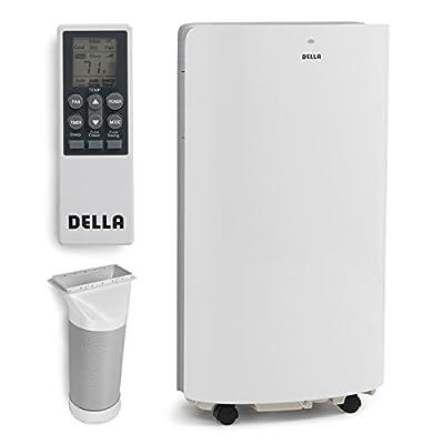 DELLA 048-GM-48265 14,000 BTU Evaporative Portable Air Conditioner/Heater/Dehumidifier/Cooling Function LED Panel Control, White