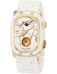 Glam Rock Women's GR72020 Monogram White Enamel Dial White Ceramic Watch