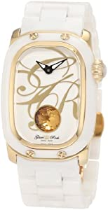 Glam Rock Women's GR72020 Monogram White Enamel Dial White Ceramic Watch
