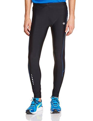 Ultrasport Pantaloni Jogging per Uomo con Funzione Quick Dry, Lungo, Nero/Victoria Blu, L