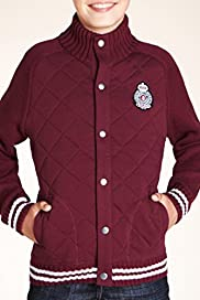 Pure Cotton Diamond Quilted Ribbed Cardigan [T87-3783U-S]