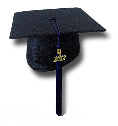 "Cappello da laurea ""Tocco"" Basic Grad Hat (BLU)"