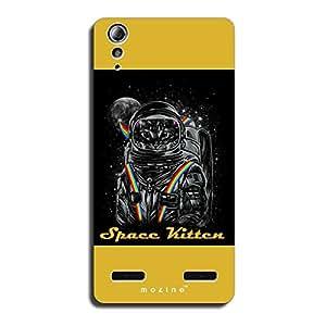 Mozine Space Kitten printed mobile back cover for Lenovo A6000 plus