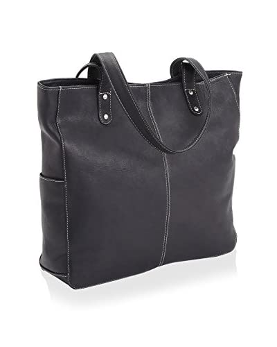ROYCE LEATHER Women's Luxury Hobo Shoulder Bag, Black
