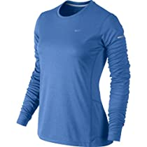 Nike Womens Miler Long Sleeve Top - X-Small - Distance Blue/Armory Navy