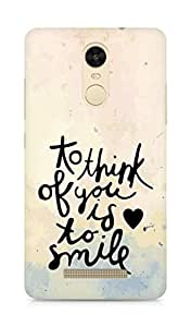 AMEZ to think of you is to smile Back Cover For Xiaomi Redmi Note 3