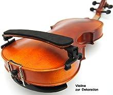 ts-ideen 6012 - Protector de hombro para violín (tamaño 1/2, 1/4 y 1/8, imitación de madera)