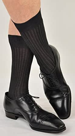 Marcoliani Men's Over-the-Calf Luxury Cashmere Socks from Italy - RARE - One Pair Black