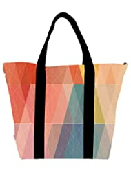 Snoogg Design Polygon Womens Large Shoulder Tote Bag