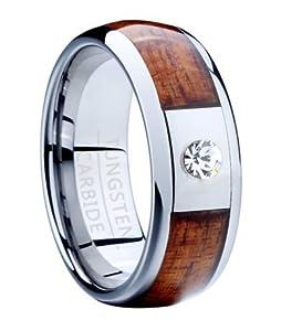 Amazon.com: Men's 8mm Comfort Fit Tungsten Wedding Ring