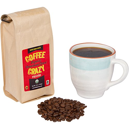 412s3DKDF0L Organic Fair Trade Coffee Coffeecrazy Premium Usda Organic Fair Trade Colombian Whole Bean Coffee Whole Coffee Beans