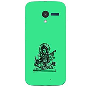 Skin4gadgets Maa Saraswati- Line Sketch on English Pastel Color-Turquiose Green Phone Skin for MOTO X (XT-1055,1053)