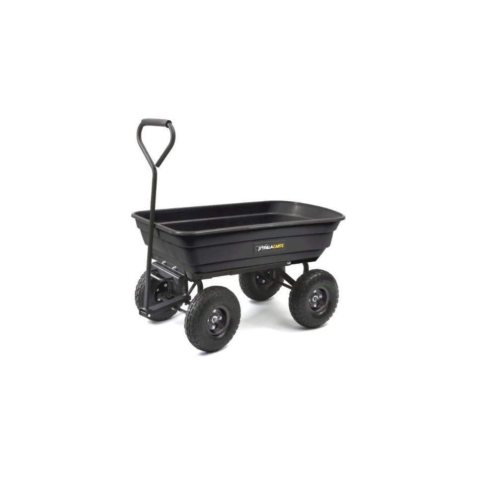 Tricam GOR200B Gorilla Carts 600 Pound Capacity Poly Dump Cart, Black