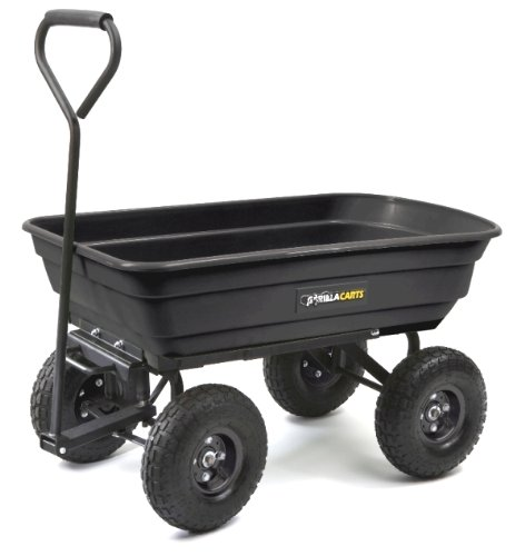 Buy Tricam GOR200B Gorilla Carts 600-Pound Capacity Poly Dump Cart, Black