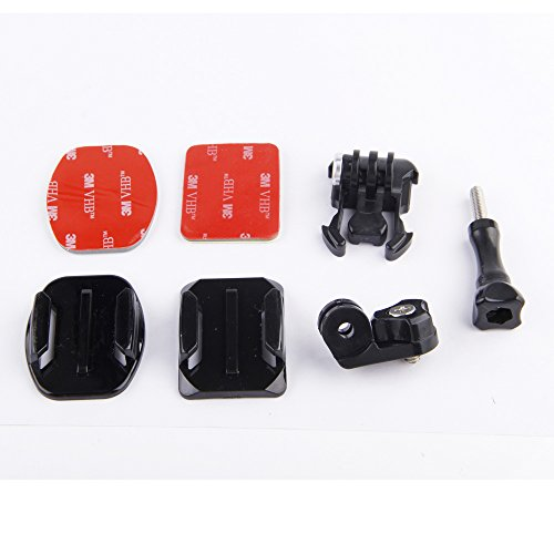 pangshi® kits for Sony action cam AS15 AS30 AS100V Rollei Basic Accessories Flat Curved Adhesive Tripod Mount Buckle