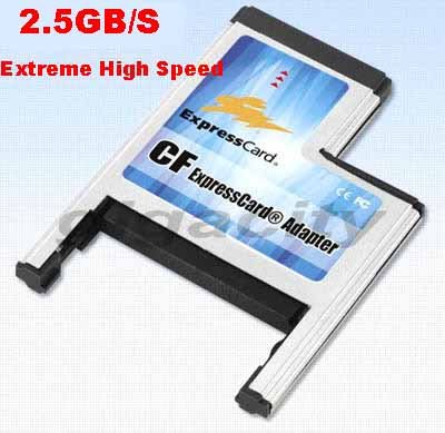 Compact Flash CF I/II Card Reader Adapter (PCI-e Interface) for ExpressCard 54 Slot (Support UDMA mode 0-6)