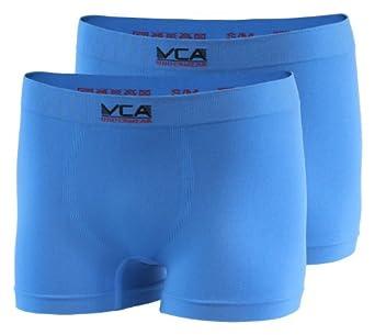Lot de 2 boxers haute qualité - microfibre - sans couture ni colorants azoïques - homme - bleu - taille S/M