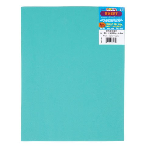 Bulk Buy: Darice Foamies Foam Sheet Turquoise 2mm thick 9 x 12 inches (10-Pack) 106-5377