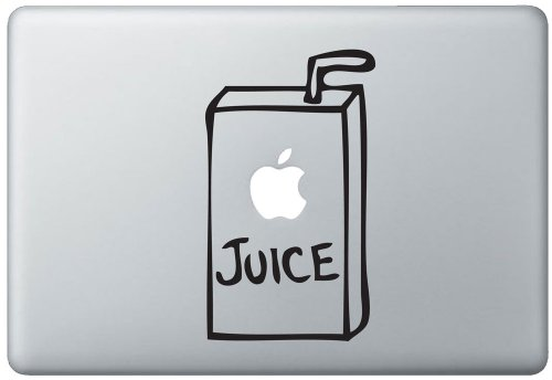 Apple Juice Box Macbook Pro Vinyl Decal Sticker (Available For 11, 13, 15, 17 Inch And Air) front-651794