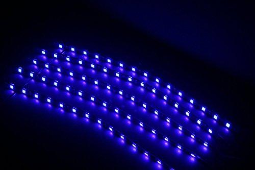 ABN 30cm Flexible étanche LED Bande Autocollant clair Lot de 5(Bleu)