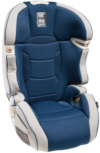 Kiwy 14003KW06B SLF23 Q-Fix - Seggiolino auto per bambini, gruppi 2/3 (15-36 kg) con adattatore Q-Fix per Isofix, certificato ECE, colore: blu oceano