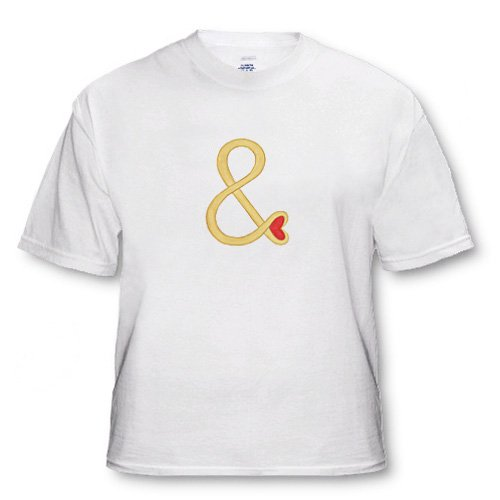 Gold And Sign with Red Heart for Wedding - White Infant Lap-Shoulder Tee (12M)