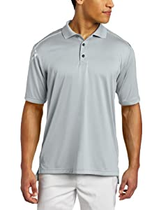 Adidas Golf Men's Climacool 3-Stripes Polo Shirt, Chrome/White, Medium