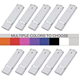 KEXIN 4GB 10ocs Bulk USB Flash Drive Memory Flash Drive Design In Snapcap (4GB White)