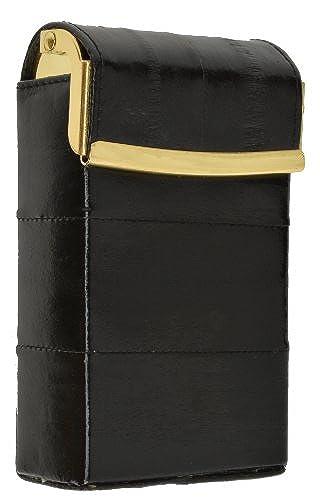 08. Eel Skin Genuine Leather Sliding Cigarette Case Wallet