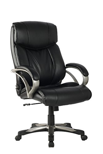 VIVA OFFICE Deluxe Executive Chair, High Back Bonded Leather Chair With  Built In Adjustable