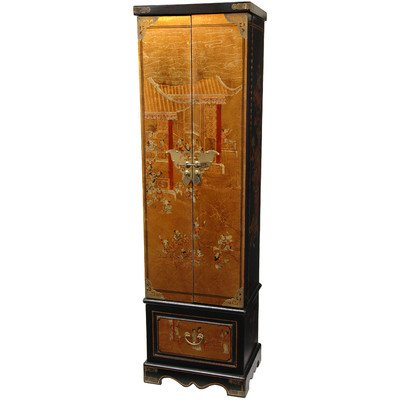 oriental-furniture-asian-furniture-and-decor-67-inch-fine-gold-leaf-lacquer-jewelry-armoire-chest
