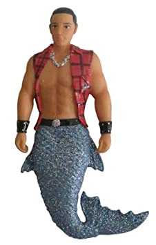 Hot LumberJack Timber the Merman Magnet
