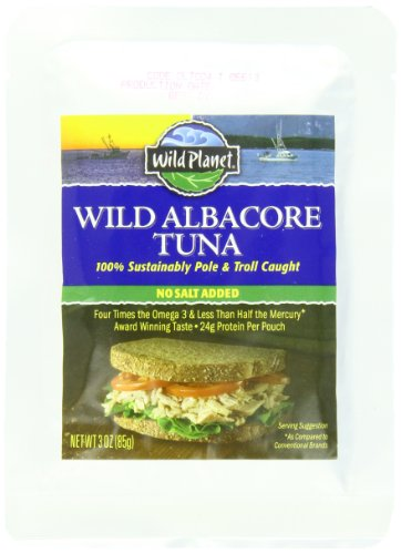 Wild Planet Albacore Tuna, No Salt, 3-Ounce Pouch
