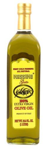 Massimo Gusto Extra Virgin Olive Oil, 1-Liter Glass Bottles (Pack of 2)