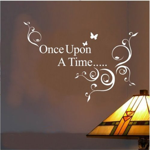 Mzy Llc (Tm) Once Upon A Time Removable Vinyl Wall Stickers Decal Wallpaper Art Home Decor White