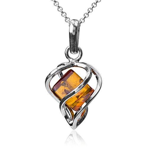 noda-ambar-plata-esterlina-millennium-collection-corazon-novio-contemporaneo-colgante-collares-caden