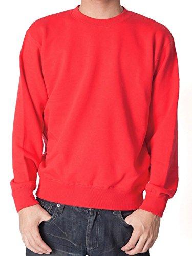 (ティーシャツドットエスティー) Tshirt.st 無地でシンプルな レギュラー トレーナー (裏パイル) レッド 3XL