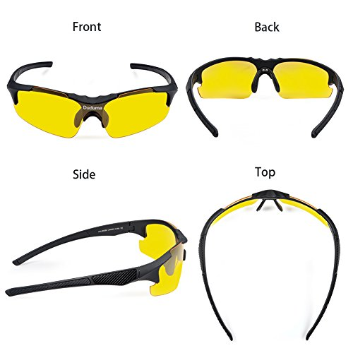 5303d19940f Duduma Yellow Night Vision Polarized Sunglasses Glasses for Driving Fishing  Shooting Multicolor Fram