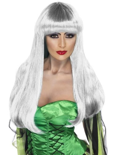 [Glamour Witch Adult Costume Accessory Wig - White] (Glamour Witch)