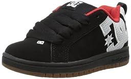 DC Court Graffik SE Skate Sneaker (Little Kid/Big Kid),Black/White/Gum,6.5 M US Big Kid