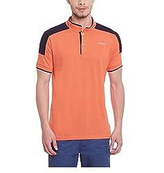 Yepme Men's Orange Cotton Polos - YPMPOLO0445_M