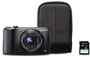 Sony Cyber-Shot DSCH90/BBDL 16.1MP Camera with 16x Optical Zoom (Black Bundle)
