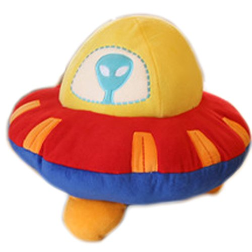 Lovely Cartoon Children's Pillow Plush Toy Home Decorative Throw Pillow (Flying saucer)