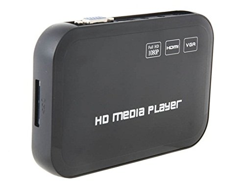 H6W 1080P High Definition Hard Disk Player Hdmi & Vga & Sd (Black)