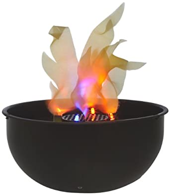 "Fortune Products FLM-200 Cauldron Flame Light, 9.75"" Bowl Diameter x 4.5"" Height"
