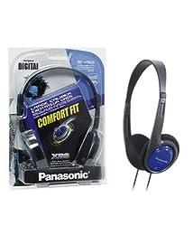 Panasonic RP-HT010GU-A On-Ear Headphone with Deep Bass for iPod, MP3