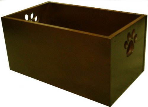 Wood Pet Toy Box (Mahogany)